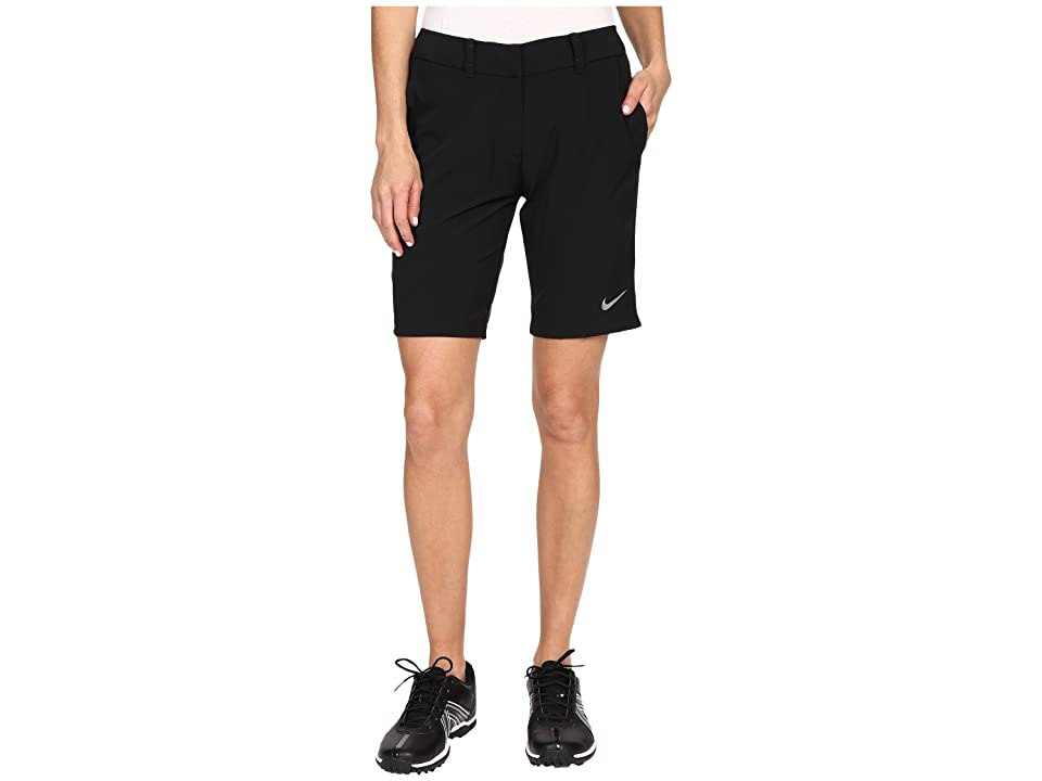 Nike Golf Bermuda Shorts Solid (Black/Metallic Silver) Women
