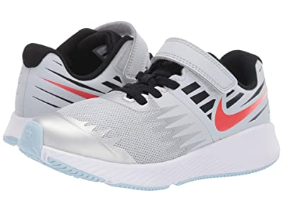 Nike Kids Star Runner SD (Little Kid) (Pure Platinum/Team Orange/Black) Boys Shoes