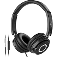 On Ear Headphones with Mic, Vogek Lightweight Portable Fold-Flat Stereo Bass Headphones with 1.5M...