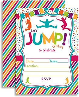 Jump Bounce and Play Jumping Birthday Party Invitations for Girls, 20 5
