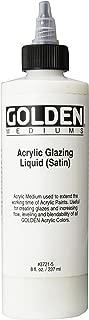 Golden Acryl Med 8 Oz Glaze Liquid Satin
