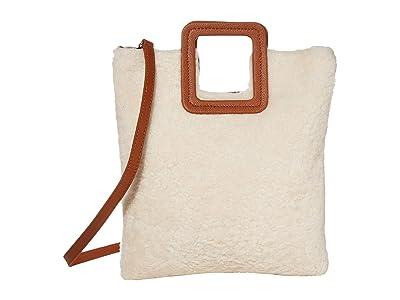 TMRW STUDIO Milo Fold-Over Clutch (Natural Shearling) Handbags