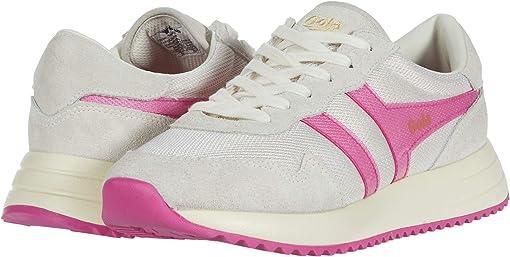 Off-White/Fluro Pink