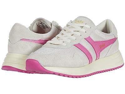 Gola Vancouver Mesh (Off-White/Fluro Pink) Women
