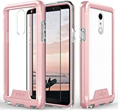 Zizo ION Series Compatible with LG Stylo 4 Case Military Grade Drop Tested with Tempered Glass Screen Protector Rose Gold Clear