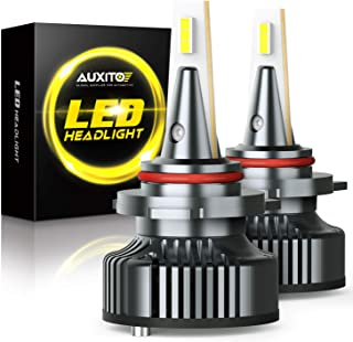 9012 LED Headlight Bulbs Mini Size 80W 16,000LM Per Pair CanBus Ready, AUXITO HIR2 9012 LED Headlight Bulb Conversion Kit, 6500K Xenon White, Pack of 2
