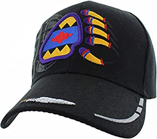 Native American Pride Bear Claw Paw Baseball Adjustable Hat Cap Black