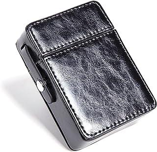 LKLKLK Caja de Cigarrillos de protección, máquina de Moda Simple portátil, Caja de Cigarrillos de Cuero para Hombres, Rega...