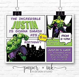 Incredible Hulk Invitation