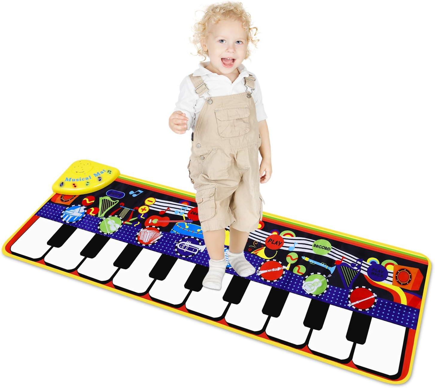 M SANMERSEN Piano Mat for Kids Play supreme Mats I with Washington Mall 8 Keyboard