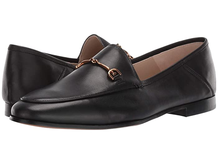 Sam Edelman  Loraine Loafer (Black Leather) Womens Dress Sandals