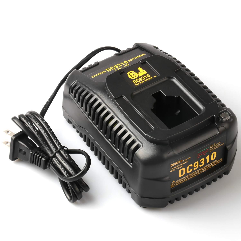 18V Ni-CD /& Ni-MH Cordless Drill XRP Batteries DC9096 DC9098 DC9099 DC9091 DC9071 DE9057 DW9096 DW9094 DW9072-18 Months Warranty Batteriol DC9310 Fast Battery Charger for Dewalt 7.2V