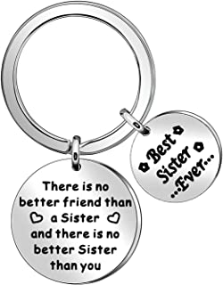 Sponsored Ad - Keychain for Women Girls Sister Keychain Keyring Gift True Friends Gift Unbiololgical Sister Keychain Ring ...