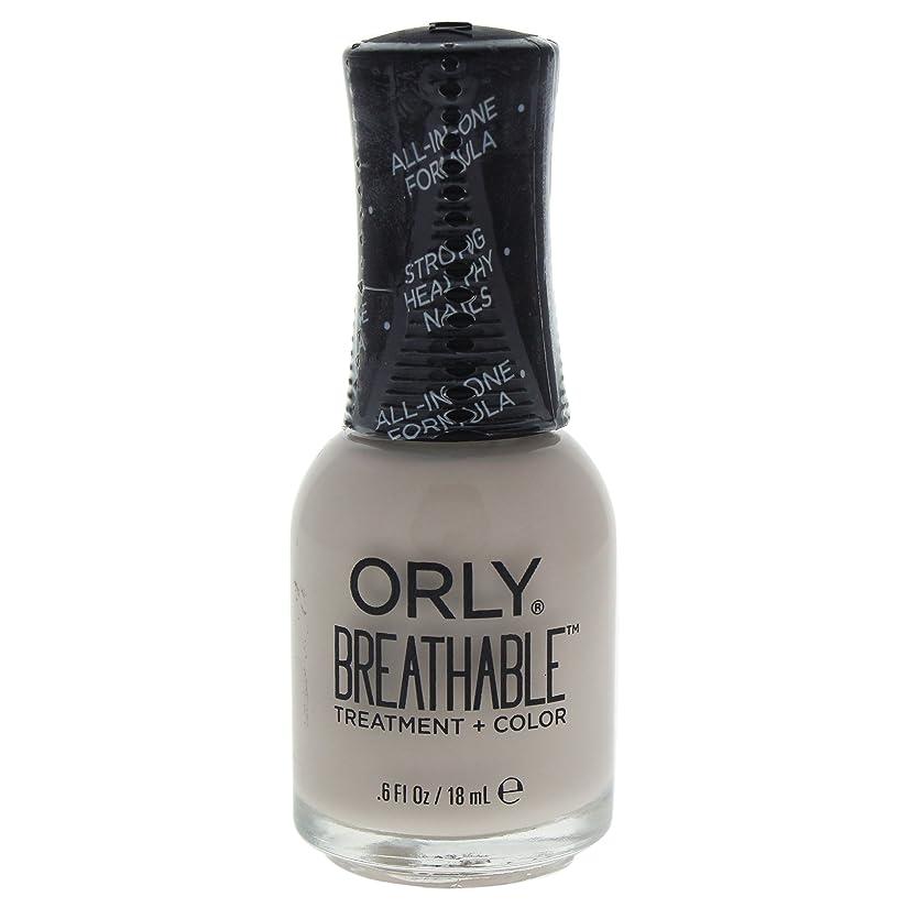 にはまってガウンウェブOrly Breathable Treatment + Color Nail Lacquer - Almond Milk - 0.6oz / 18ml