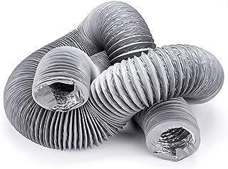 HG Power Universeller Abluftschlauch PVC Flex Schlauch Abluftrohr Schallgedämmter Lüftungsschlauch Abluftrohr mit Alu-Isolierung in Profiqualität für LuftführungssystemeDL: ø125mm5m