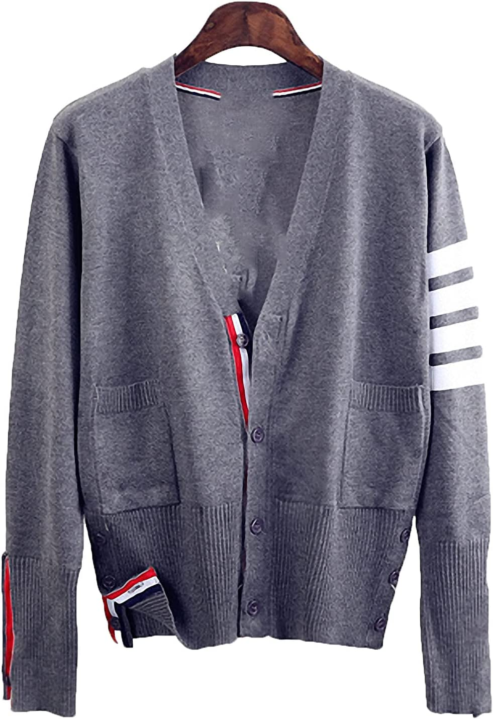 Barsly Spring and Autumn and Knitted Shirts Striped Cardigan Women Sweater