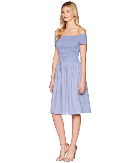 Fit Off Nine Dress amp; Smoked Bodice Shoulder Flare w West qFHHTvt