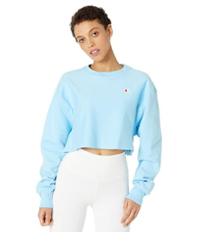 Champion LIFE Reverse Weave(r) Cropped Cut Off Crew (Candid Blue) Women