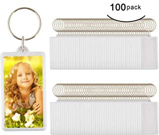 "100pcs Custom Personalised Insert Photo Acrylic Blank Keyring Keychain Wholesale(Size:2.51""x1.33"")"