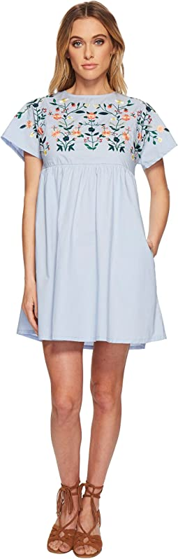J.O.A. - Kimino Style Dress with Lace-Up Back Detail