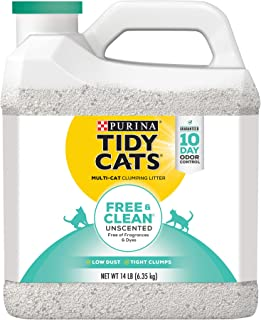 Purina Tidy Cats Free and Clean Unscented Clumping Litter, 6.35kg