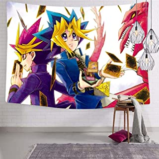 BEKAIHOME Yu-Gi-Oh Card Print Wall Hanging Tapestries,Wall Hanging Decor Tapestries for Bedroom Livingroom