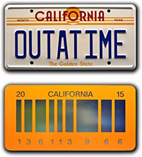 Celebrity Machines Back to The Future | Outatime + 2015 | Metal License Plates