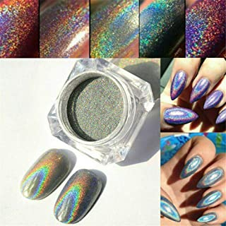 DIY Rainbow Glitter Mirror Effect Nail Art Chrome Pigment Holographic Powder (#2)