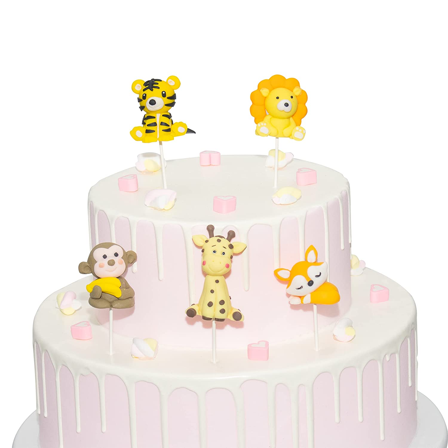 Popular brand 3D Cartoon Animal Cupcake Toppers Lion Cake Topper Birthday Attention brand Cupc