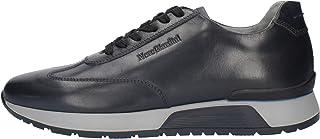 Sneackers Uomo NeroGiardini I001724U Stringata in Pelle Nero o Blu Una Calzatura Comoda Adatta per Tutte Le Occasioni. Aut...