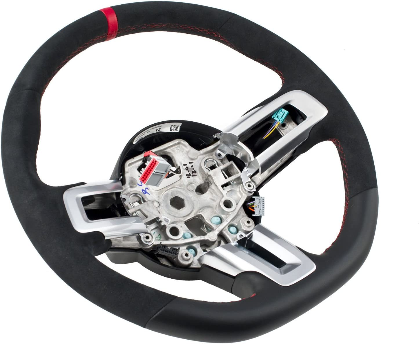 Steering Wheel Suede Leather - Stitching Mus Free supreme shipping anywhere in the nation Red 2015-2017 for