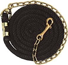 Weaver Leather Poly Lead Rope with Brass Plated Swivel Chain, Navy/Blue/Turquoise, 5/8
