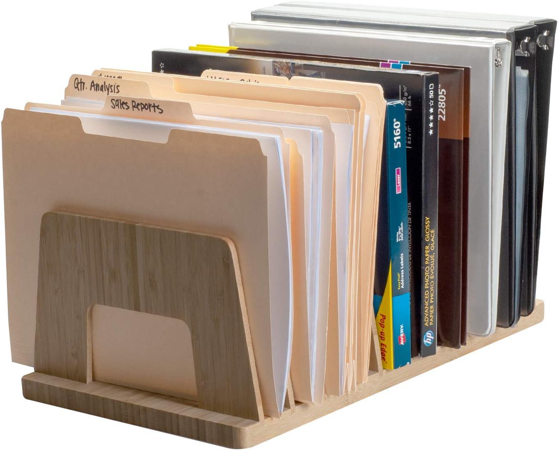 MobileVision Bamboo Washington Mall Desktop File Folder Paper Superior Organizer and Tray