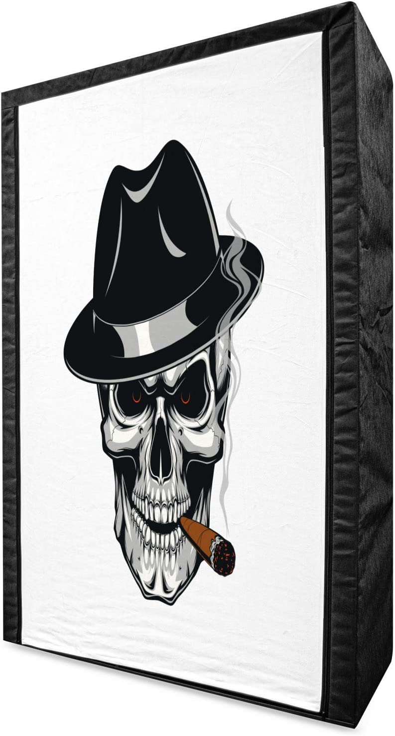 Ambesonne Skull Smoking Portable Skeleton Human Fabric trend rank Popular overseas Wardrobe