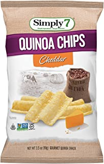 Simply7 Quinoa Chips, Gluten Free, Cheddar, 3.5 Ounce (Pack of 12)