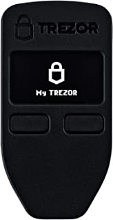 Trezor One - Cryptocurrency Hardware Wallet - The Most Trusted Cold Storage for Bitcoin, Ethereum, ERC20 and Many More (Black)