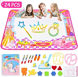 STREET WALK Aqua Magic Mat - Kids Painting Writing Doodle Board Toy - Color Doodle Drawing Mat Bring Magic Pens Educational Toys for Age 3 4 5 6 7 8 9 10 11 12 Year Old Girls Boys Age Toddler Gift