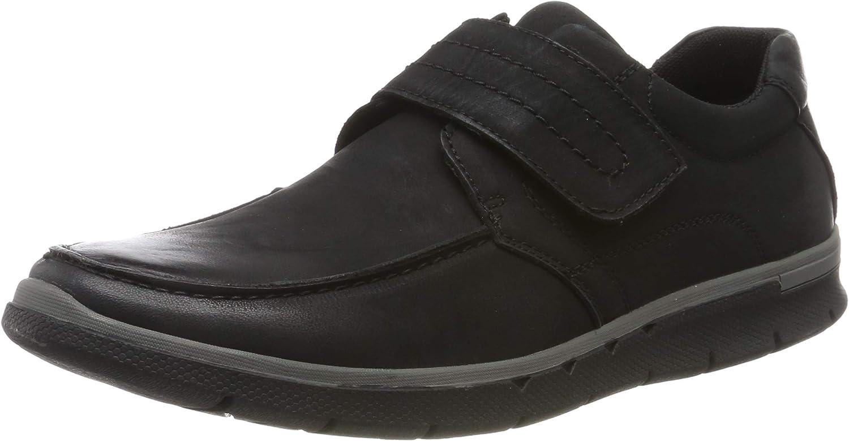 Hush Puppies Mens Duke Velcro shoes Black Size UK 11 EU 45