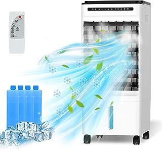Refroidisseur d'air Mobile, 4 en 1 Climatiseur Portable Ventilateur Purificateur Humidificateur avec avec Roues et Réservo...