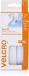 VELCRO Brand for Fabrics Sew On Hook and Loop Tape - Ideal Substitute for Zips, Buttons & Studs - No Ironing or Gluing - C...