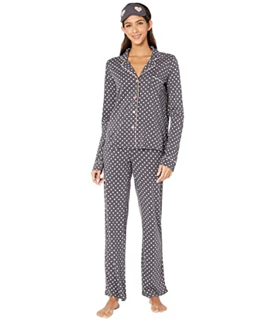 P.J. Salvage Give Love Sleep Set (Charcoal) Women
