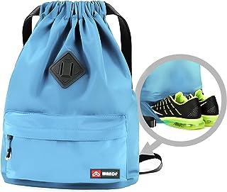 Drawstring Backpack String Bag Sackpack Cinch Water...
