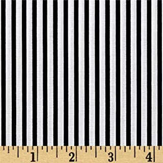 Robert Kaufman Black Kaufman Sevenberry Petite Basics Mini Stripe Fabric by The Yard