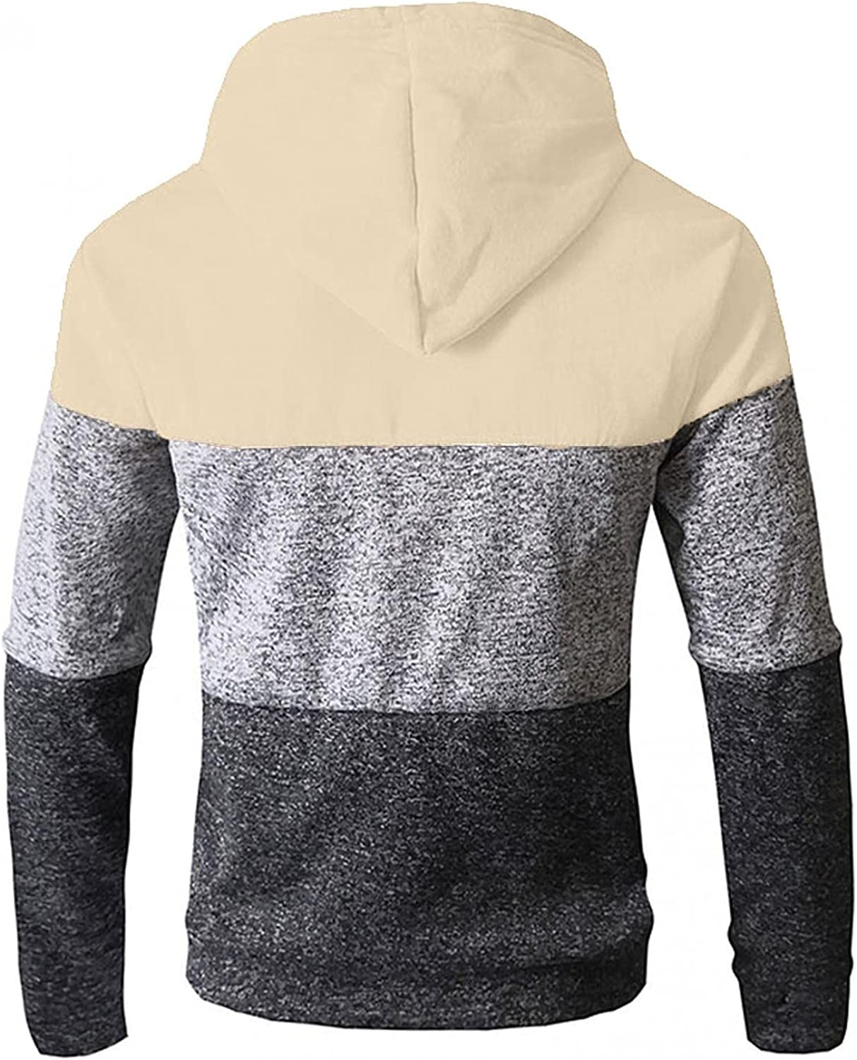 KEEYO Mens Casual Slim Fit Hoodie Active Zip-up Colorblock Lightweight Fall Cardigans Jackets with Pockets