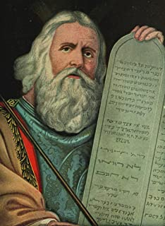 Captivating Bible Stories 1913 Moses & Ten Commandments Poster Print by Unknown (18 x 24)