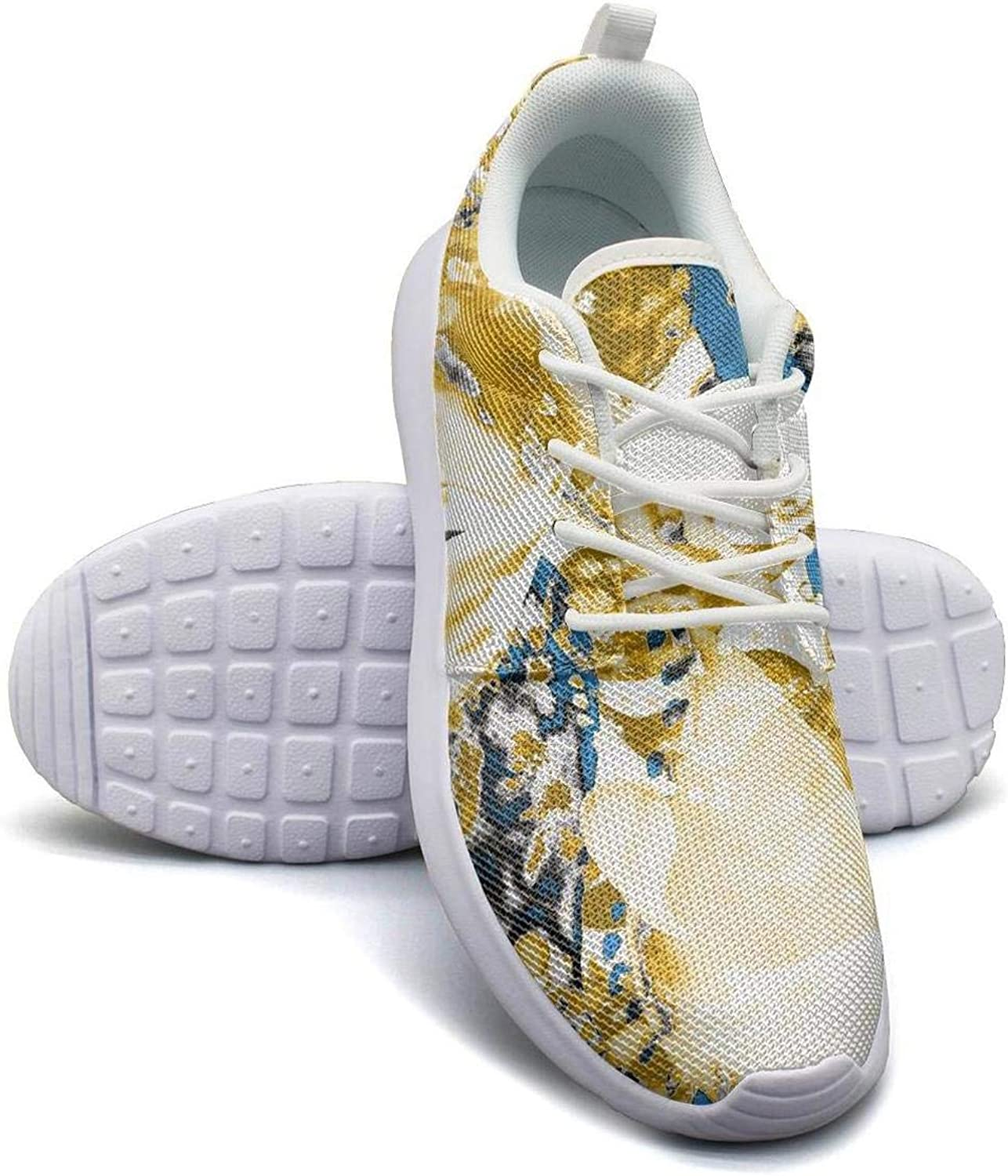 CHALi99 Fashion Women's Lightweight Mesh shoes Tropical Floral Hawaiian Vivid Tropic Sneakers Outdoor Lace-Up