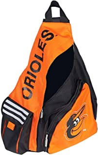 "Officially Licensed Baseball Team Baltimore""Leadoff"" Sling Backpack, 20"", Orange/Blk"