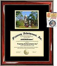University of Notre Dame Diploma Frame Graduation Degree UND College Campus Photo Graduation Gift Certificate Plaque Framing Document Double Holder Case Bachelor Master PhD Doctorate