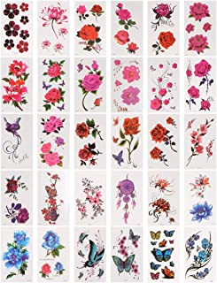 Beaupretty 60 Vellen Bloemen Tijdelijke Tatoeages Bloemen Rozen Vlinders Dier Waterdichte Body Art Tijdelijke Tatoeages St...