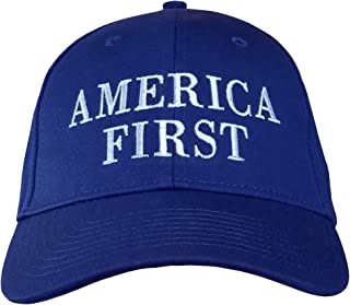 America First Hat - Cap is Made in USA - Stone, Red or Royal Blue Color Options